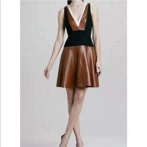 Gorgeous authentic lamb skin/leather dress